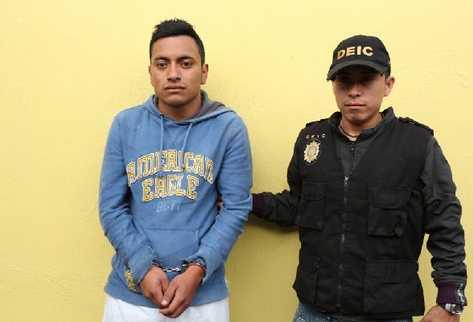Marvin Franco, capturado en  zona 16.