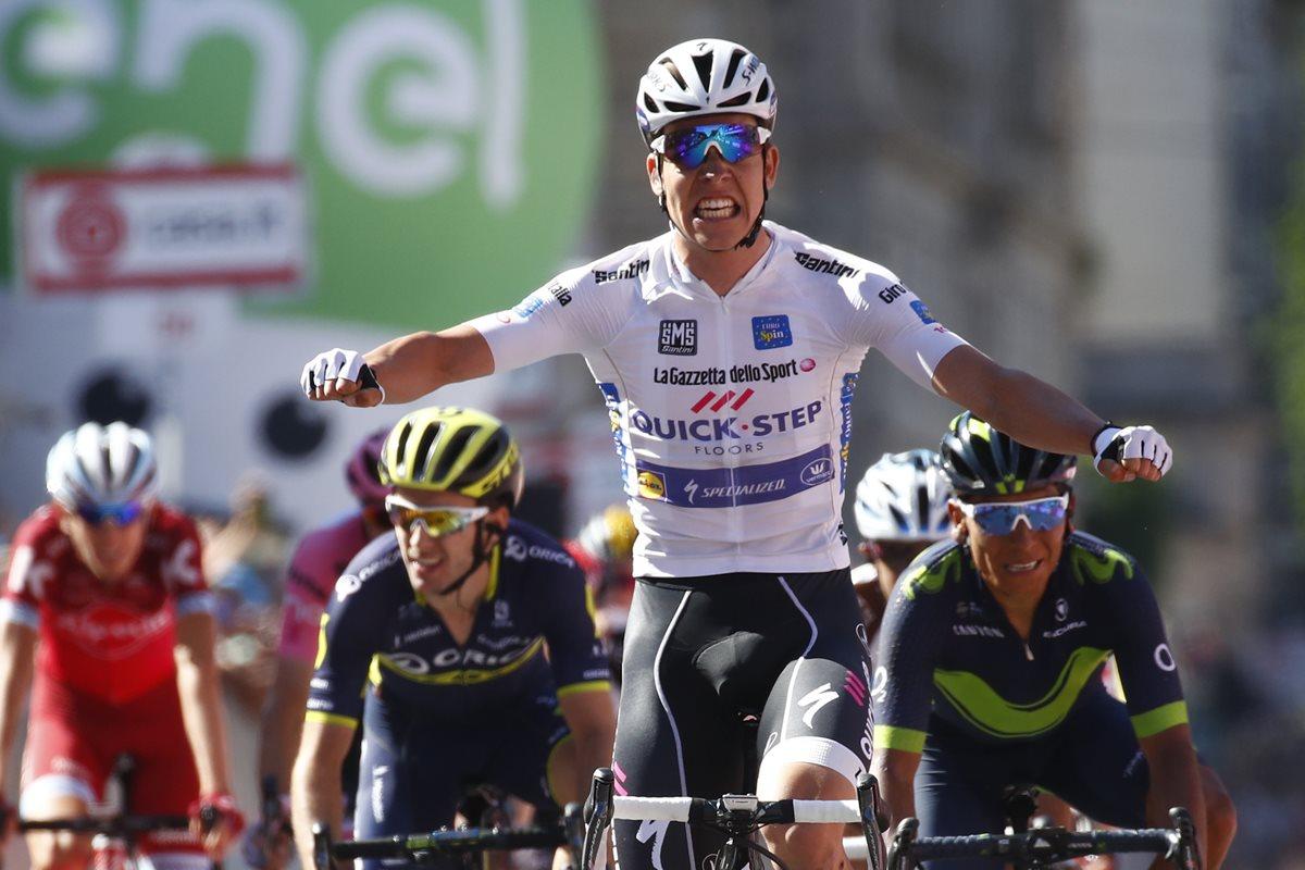 Bob Jungels fue el más rápido en la etapa número quince del Giro de Italia. (Foto Prensa Libre: AFP).