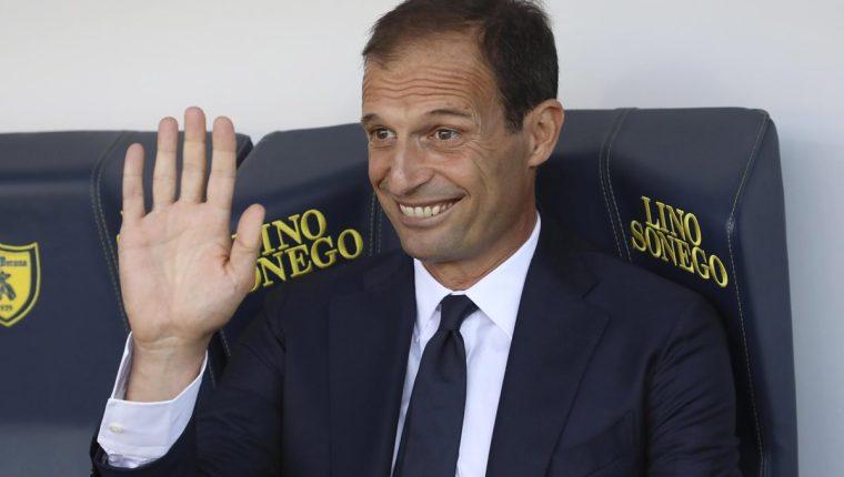 Massimiliano Allegri, entrenador de la Juventus FC. (Foto Prensa Libre: EFE)