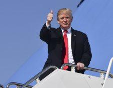 El presidente Donald Trump cumplirá un año en el gobierno en enero próximo. (Foto Prensa Libre: AFP)