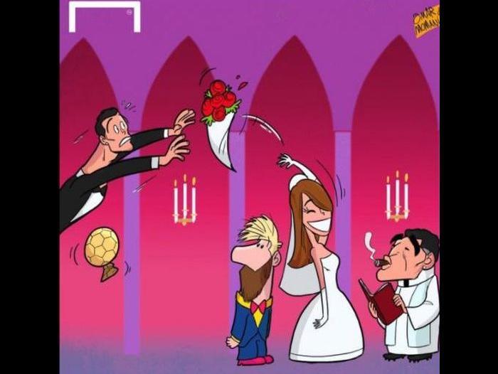 La boda de Messi y Antonella no podía escaparse de los memes