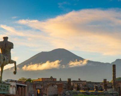 La erupción del Vesubio arrasó con Pompeya. GETTY