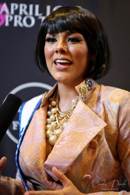 Miss Guatemala, Virginia Argueta, estrena look en la Semana de la Moda de Los Ángeles