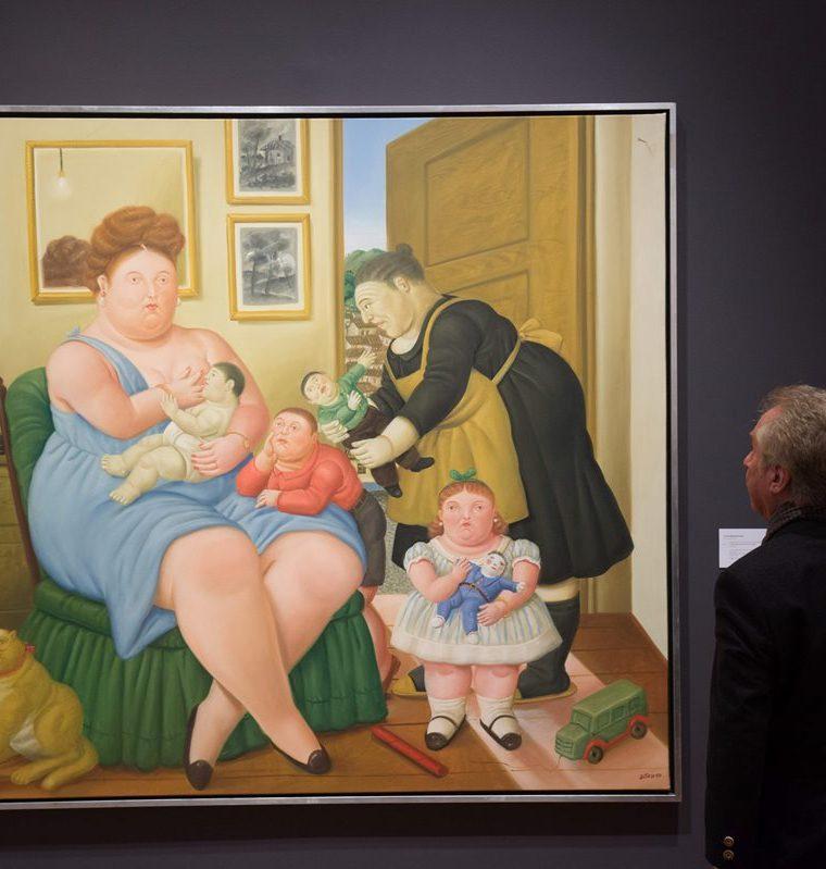 La subasta de Christie's apuesta por el arte de Fernando Botero. (Foto Prensa  Libre: AFP)