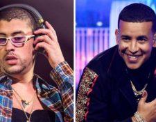 Los puertorriqueños Bad Bunny y Daddy Yankee son dos de los máximos exponentes del trap latino y el reggaetón, respectivamente. GETTY IMAGES