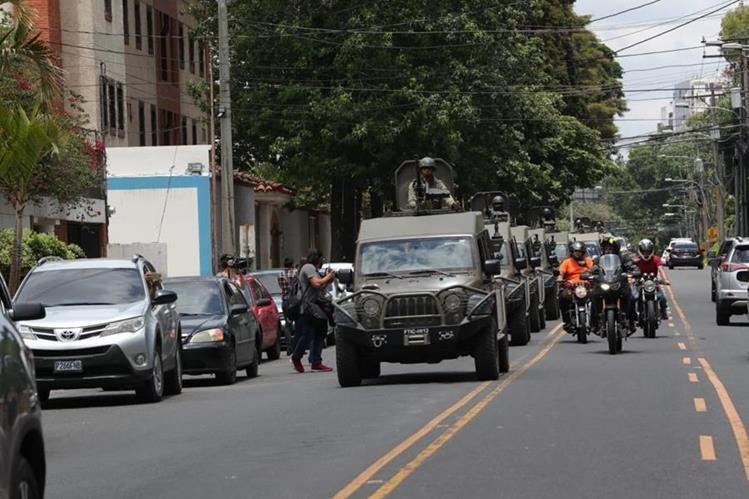 Gobernación ordenó usar Jeeps J8 para patrullar embajadas de México, EE. UU. y a la Cicig