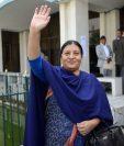 Bidhya Bhandari, primera mujer en ocupar el cargo.(Foto Prensa Libre: AFP).