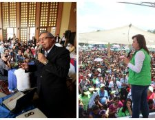 Los candidatos a la presidencia y vicepresidencia aumentan sus actividades públicas. (Foto Prensa Libre: Hemeroteca PL)