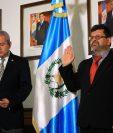 Erik Nolberto Guerrero Milián toma juramento del cargo de gobernador de Alta Verapaz. (Foto Prensa Libre: Presidencia)
