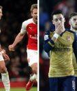 Mesut Ozil y Alexis Sánchez se encuentran cerca de dejar la disciplina del Arsenal. (Foto Prensa Libre: Hemeroteca PL)