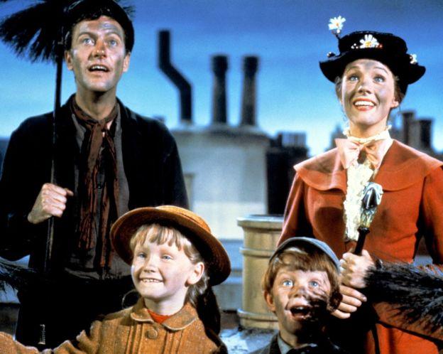 Mary Poppins (1964) fue nominada a 13 Oscars, de los que ganó 5. (GETTY IMAGES)