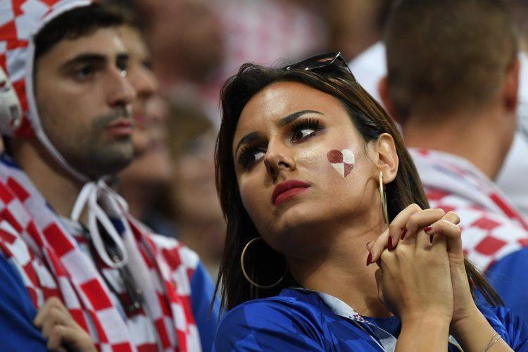 La belleza de las aficionadas croatas estuvo presente en el estadio Luzhniki.