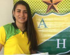 Daniela Solera está en cuidados intensivos en un hospital de Colombia. (Foto Prensa Libre: Atlético Huila)