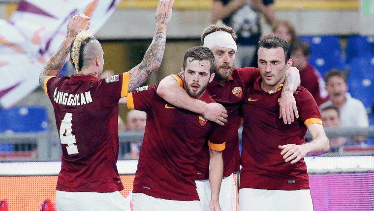El cuadro romano se aferró al subliderato de la Serie A. (Foto Prensa Libre: EFE)