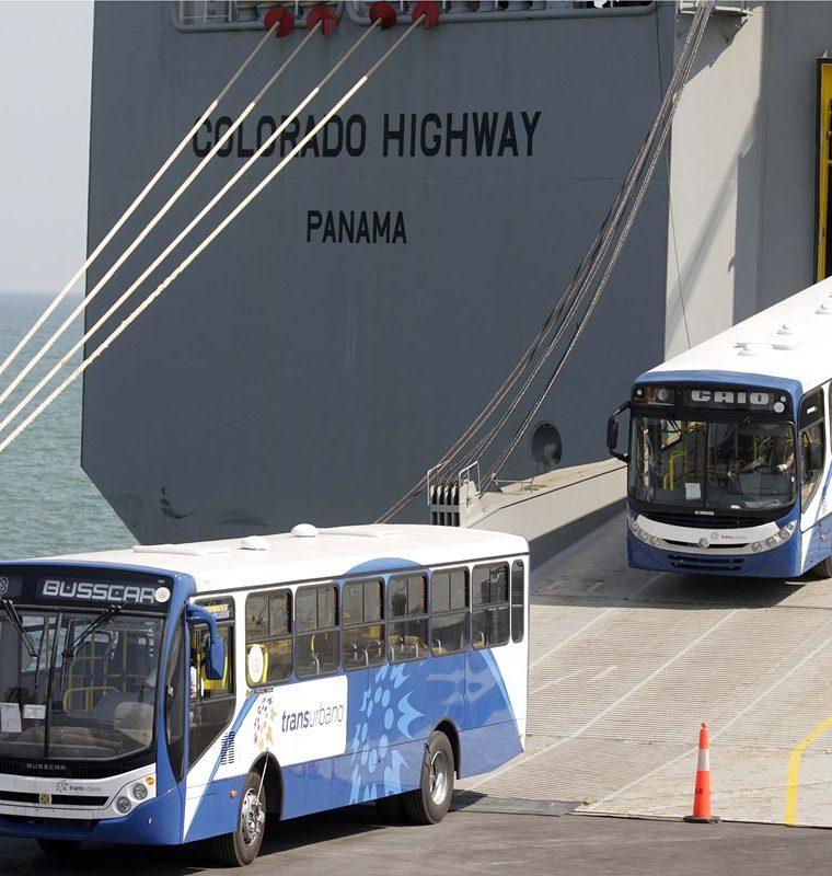 El compromiso de las empresas que operan el Transurbano era importar tres mil autobuses en el 2010, pero solo adquirieron 400. (Foto Prensa Libre: Hemeroteca)
