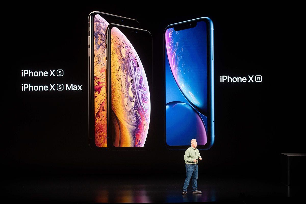 El iPhone Xs y iPhone Xs Max son los dispositivos más recientes de Apple (Foto Prensa Libre: AFP).