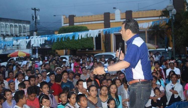 El FCN-Nación fue el partido con el que el presidente, Jimmy Morales, llegó al poder en el 2015. (Foto Prensa Libre: Hemeroteca PL)