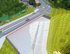 Diseño del nuevo puente San Marino, zona 8 de Mixco. (Foto Prensa Libre: Municipalidad de Mixco)