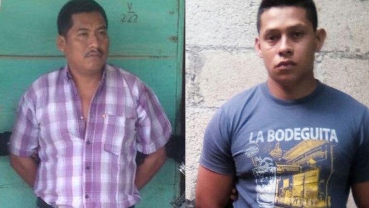 Capturados en Sayaxché, Petén, son investigados por la muerte del ambientalista Rigoberto Lima, ocurrida en el 2015. (Foto Prensa Libre: PNC)
