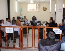 Juzgado de Santa Cruz del Quiché, donde se llevó la audiencia contra los cinco sindicados. (Foto Prensa Libre: Óscar Figueroa)