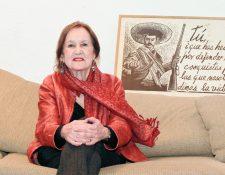 Rina Lazo,  artista plástica guatemalteca, residente en méxico estuvo recientemente en su país. (Foto Prensa Libre: Ángel Elías)