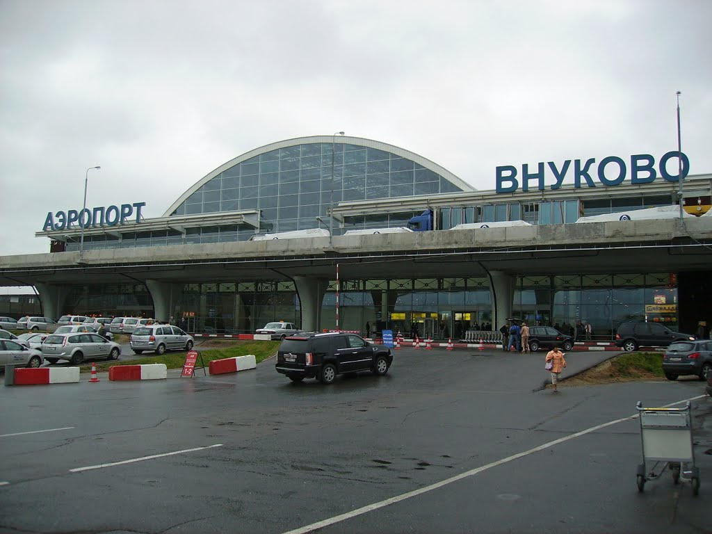 Aeropuerto internacional Vnukovo de Moscú. (AP).