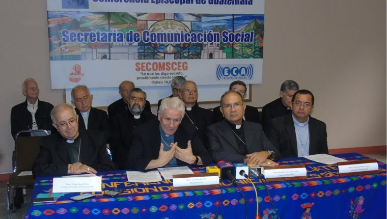 Los obispos que integran la Conferencia Episcopal de Guatemala mantiene el apoyo en la lucha contra la corrupción e impunidad. (Foto Prensa Libre: CEG)