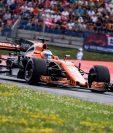 Fernando Alonso de McLaren-Honda, en acción, durante el Gran Premio de Austria. (Foto Prensa Libre: EFE)