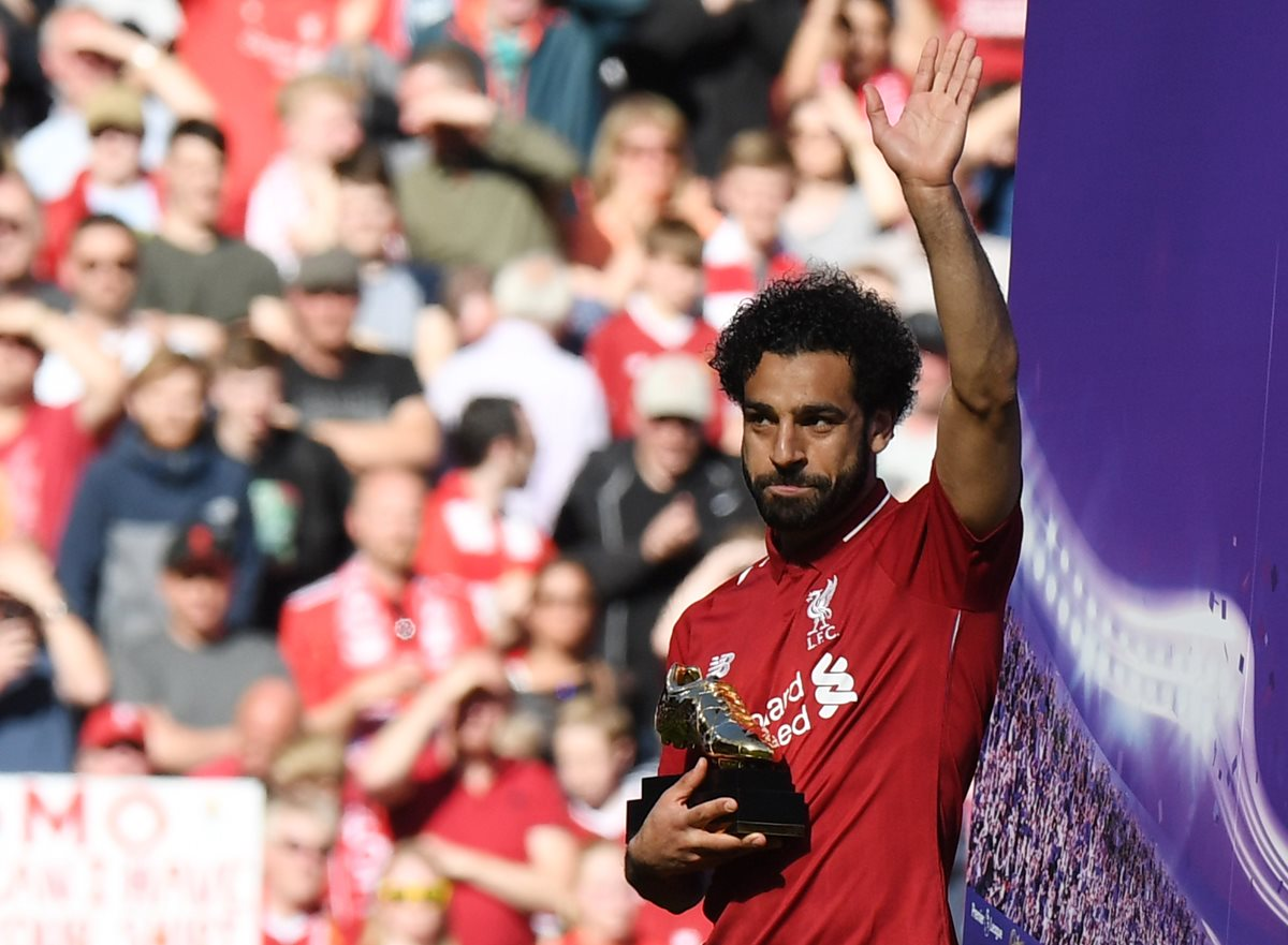 """Salah es el jugador """"sensación"""" en Europa y muchos equipos quieren ficharlo, incluído el Real Madrid. (Foto Prensa Libre: AFP9"""