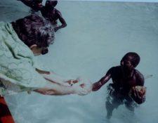 El antropólogo indio TN Pandit participó en varias expediciones para intentar establecer contacto con los sentineleses. TN PANDIT