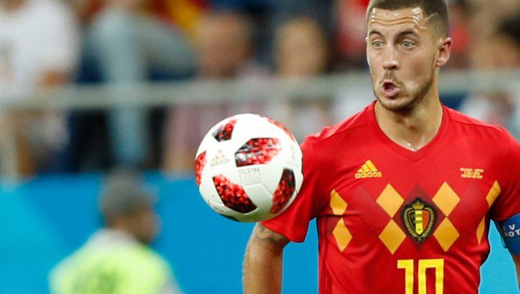 Eden Hazard fue uno de los jugadores más importantes de Bélgica en el triunfo sobre Japón este lunes. (Foto Prensa Libre: AFP)
