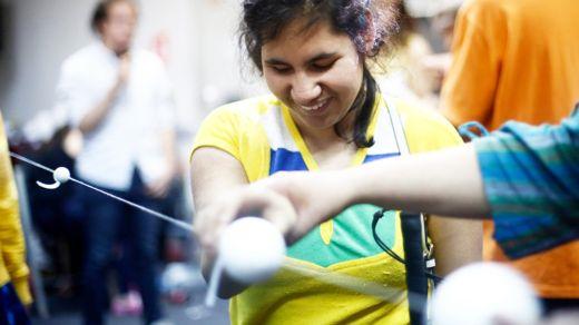 """""""Uno se da cuenta del potencial que tienen las personas con discapacidad visual y de lo que pueden llegar a lograr"""" (Foto Prensa Libre: GENTILEZA ERIKA LABBÉ)."""