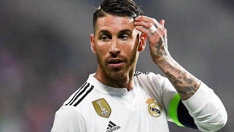 Sergio Ramos, capitán del Real Madrid, ha sido muy criticado por su juego brusco. (Foto Prensa Libre: EFE)