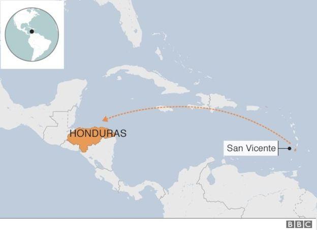 Los esclavos negros traídos desde África fueron deportados a finales del siglo XVIII de la isla de San Vicente por los británicos y se asentaron en pueblos de la costa caribeña centroamericana.