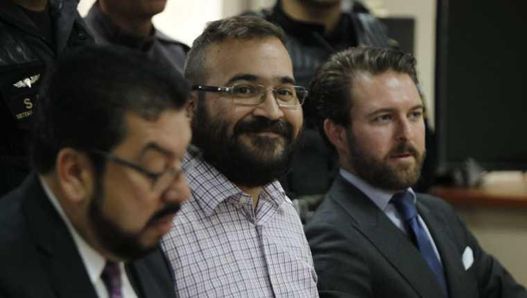 Javier Duarte, exgobernador de Veracruz, México, en la Torre de Tribunales de Guatemala, para conocer el proceso de su extradición. (Foto Prensa Libre: Paulo Raquec)