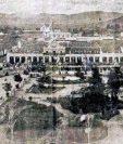 Panorámica de la Plaza de Armas, a finales del siglo XIX.