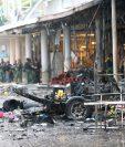 Dos explosiones en un centro comercial de Pattani, Tailandia, deja al menos 58 heridos. (Foto Prensa Libre: AFP)