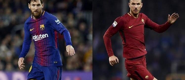 Lionel Messi y Edin Dzeko tendrán la responsabilidad de llevar el balón a la portería contraria. (Foto Prensa Libre: AFP)