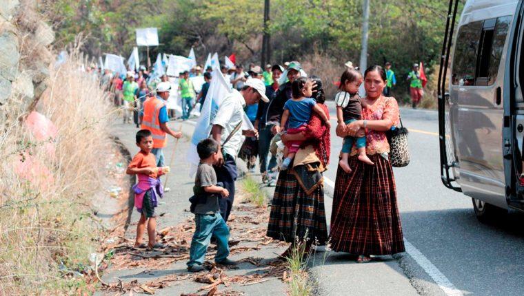 Marcha a su paso por Morazán, El Progreso. (Foto Prensa Libre: Carlos Grave).