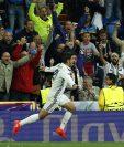 Morata anotó un golazo de cabeza y dio el triunfo al Real Madrid. (Foto Prensa Libre: AP)