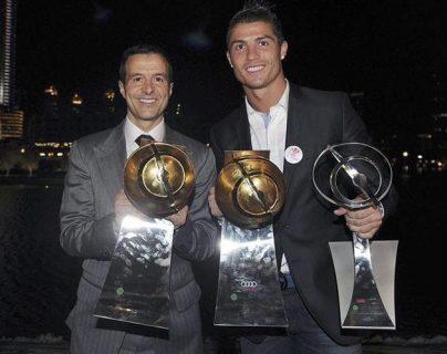 Jorge Mendes y Cristiano Ronaldo han forjado una buena amistad. (Foto Prensa Libre: Hemeroteca PL)