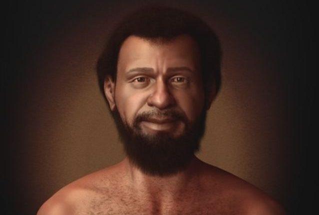 La recreación elaborada por Cícero Moraes muestra que los judíos que vivían en Medio Oriente en el siglo I tenían la piel, el cabello y los ojos oscuros. (Foto Prensa Libre: Cícero Moraes/BBC Brasil)