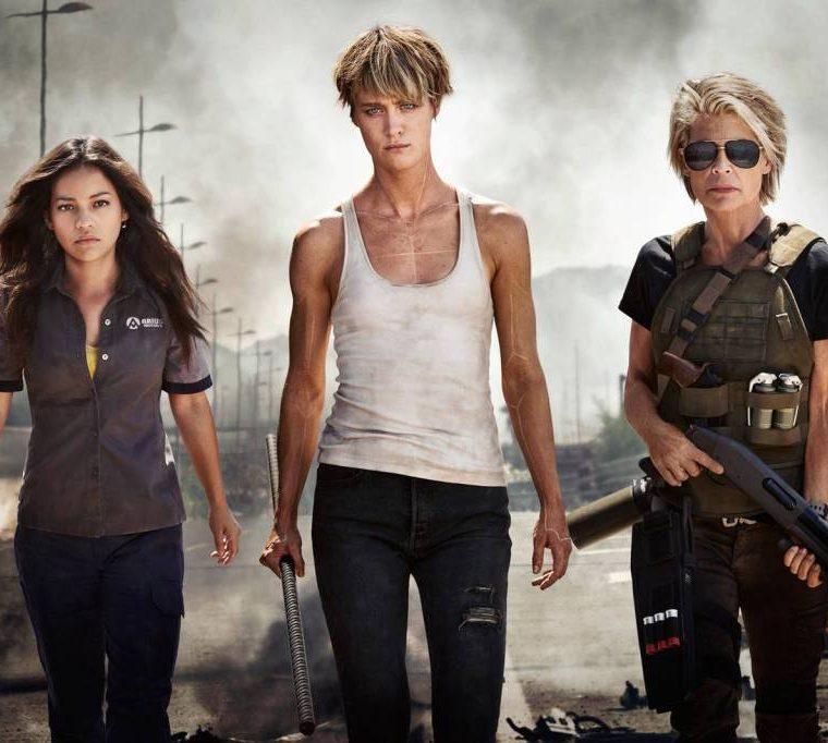 Este es el primer vistazo oficial a las protagonistas de la nueva entrega de Terminator. Natalia Reyes será Dani Ramos, Mackenzie Davis interpretará a Grace, y Linda Hamilton volverá a encarnar a Sarah Connor. (Foto Prensa Libre: Kerry Brown).