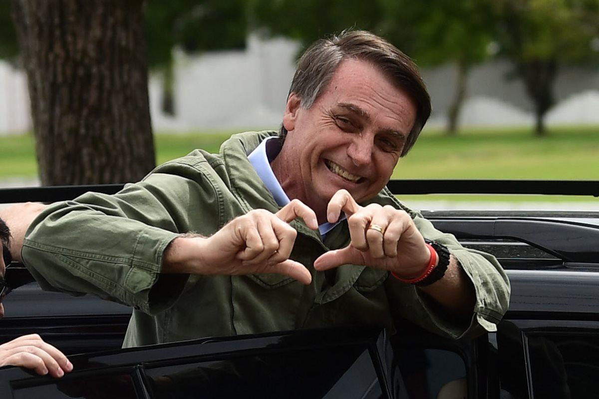 Jair Bolsonaro, presidente electo de Brasil. (Foto Prensa Libre: AFP)