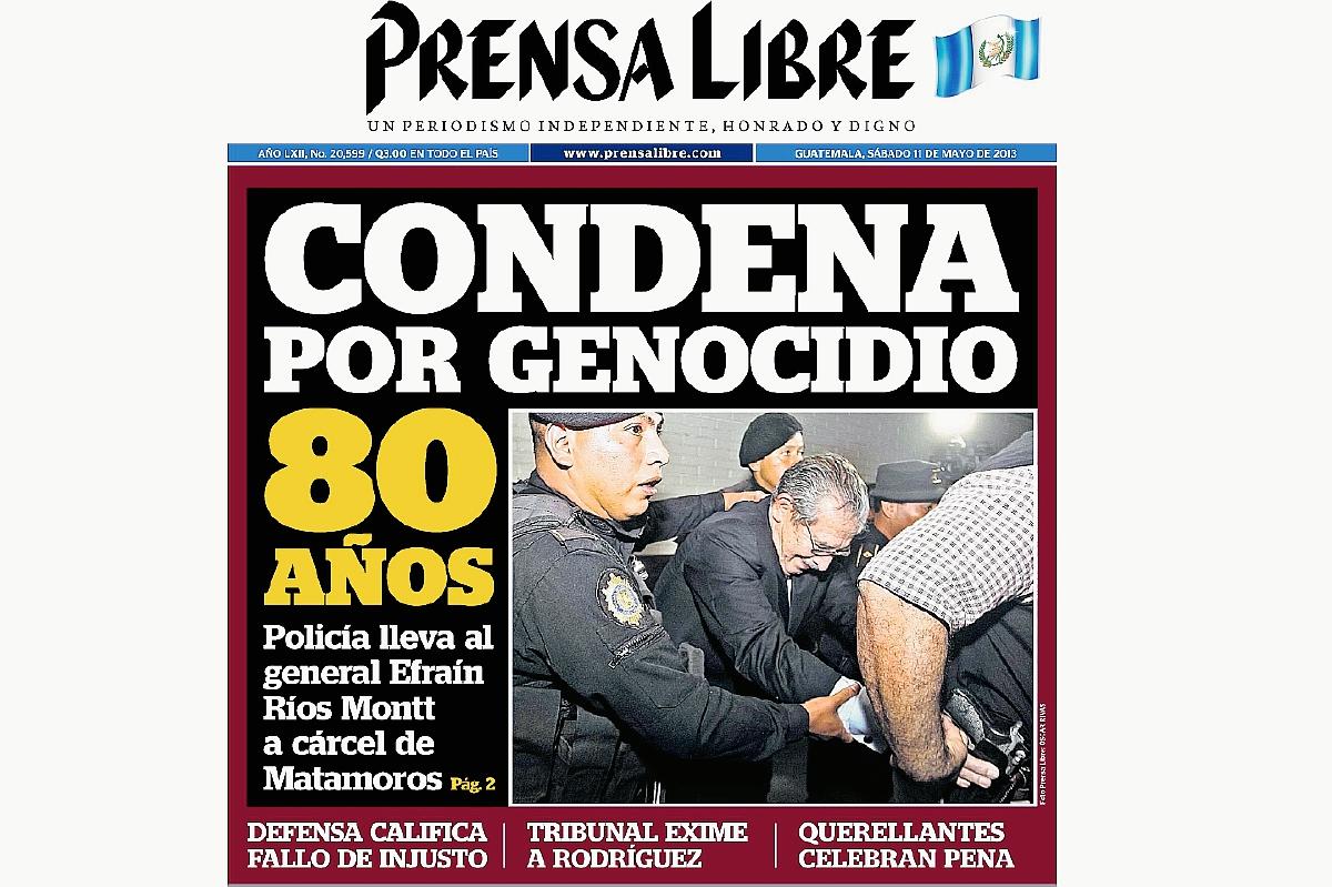 Efraín Ríos Montt es condenado por genocidio en el 2013
