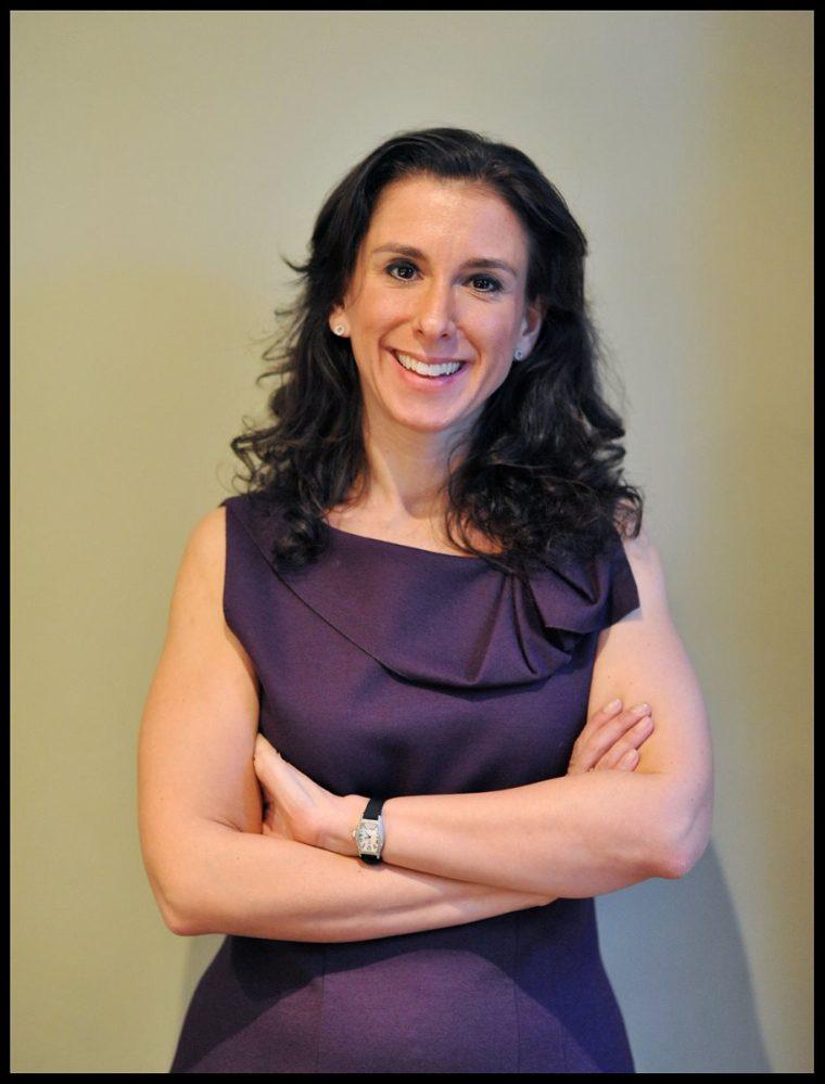 """Jodi Kantor durante la presentación  de su libro """"Los Obama"""" el 23/01/2012 en Londres, Reino Unido. (EFE)."""