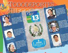 José María Solís, Julio Urías, Karin Slowing, Omar Ochoa, Wilder Rodríguez y Luis López son los entrenadores nacionales de la delegación olímpica. (Foto Prensa Libre: FotoArte)