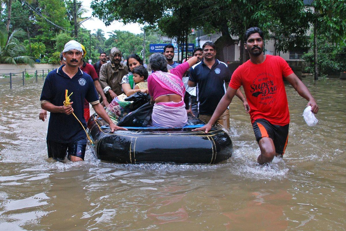 Declaran alerta roja en el sur de la India por lluvias monzónicas