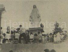 Inauguración del monumento a la Virgen en Mixco. 13/6/1982. (Foto: Hemeroteca PL)