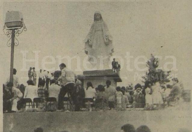 1982: inauguran el monumento a la Virgen en Mixco
